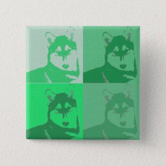 Green Husky Button