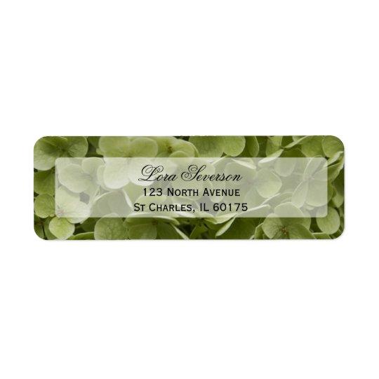 Green Hydrangea Flower Return Address Return Address Label