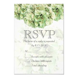 Green Hydrangea Wedding RSVP Card