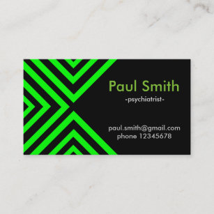 Doctor of psychiatry business cards zazzle au green hypnotic geometry business card colourmoves