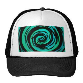 Green Hypnotic Swirl Art Cap
