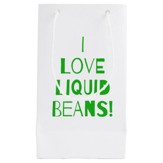 Green I Love Coffee Gift Wrap Small Gift Bag