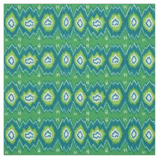 Green Ikat Linen Fabric