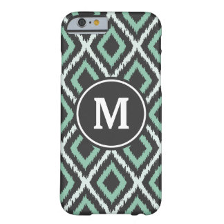 Green Ikat Monogram Barely There iPhone 6 Case