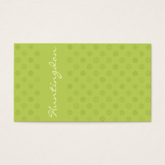 Green in Green w/ Yellow Circles Business Card