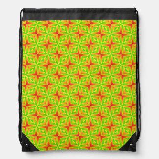 green in winter drawstring bag
