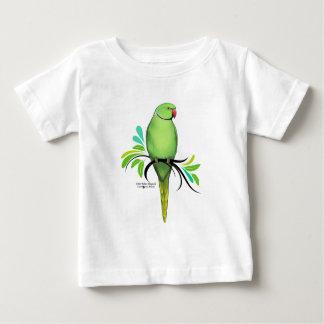 Green Indian Ringneck Parrot Baby T-Shirt