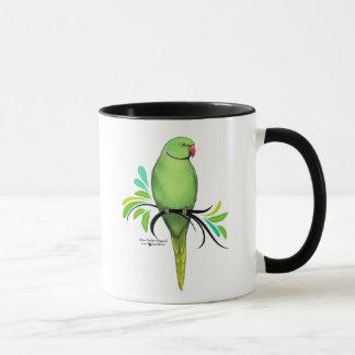 Green Indian Ringneck Parrot Mug