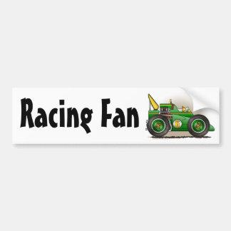 Green Indy Race Car Racing Fan Bumper Sticker