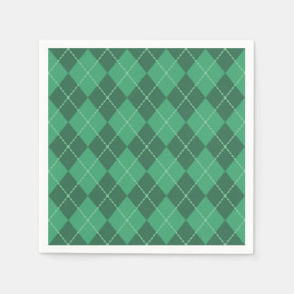 Green Irish Argyle Napkins Paper Napkins