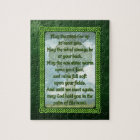 Green Irish Blessing Jigsaw Puzzle