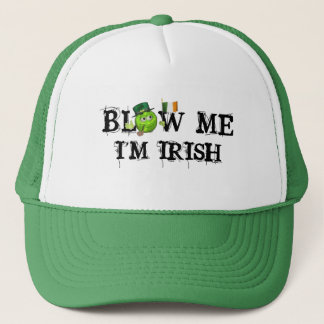 green Irish flag emoji st patricks day blow me Hat