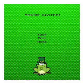 Green Irish Frog 13 Cm X 13 Cm Square Invitation Card