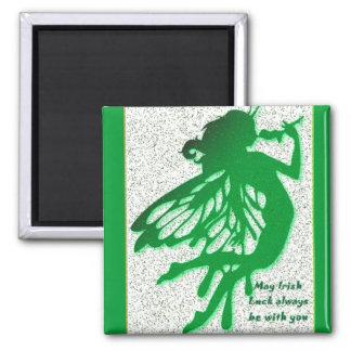 Green Irish Good Luck Fairy Magnet