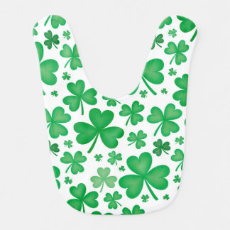 Green Irish Shamrock Baby Bib