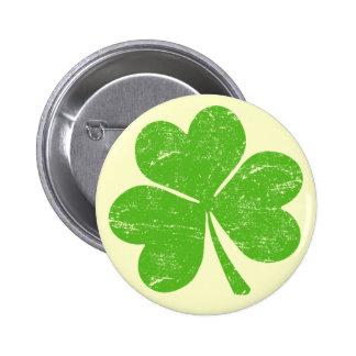 Green Irish Shamrock Pinback Button