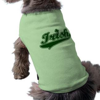 Green Irish Shamrock Sleeveless Dog Shirt