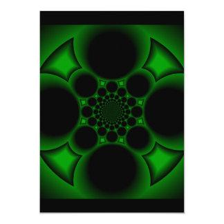 green Iron cross 13 Cm X 18 Cm Invitation Card