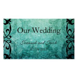 Green Ironwork Flourish Wedding Website Card Pack Of Standard Business Cards