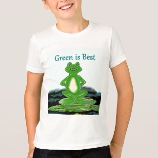 Green is Best frog shirt