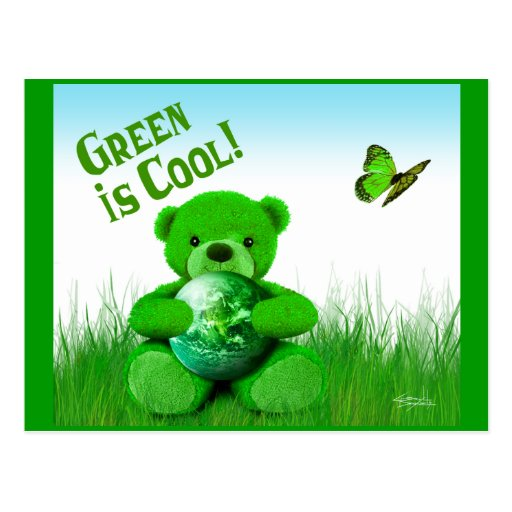 Green is Cool! Postcard