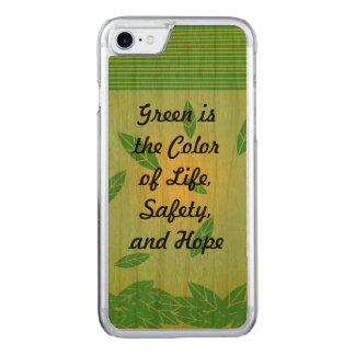 Green is... (customizable) carved iPhone 8/7 case