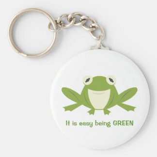 Green is Good Basic Round Button Key Ring
