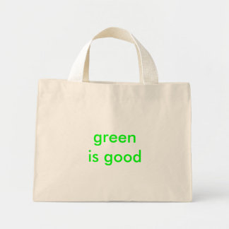 green is good mini tote bag