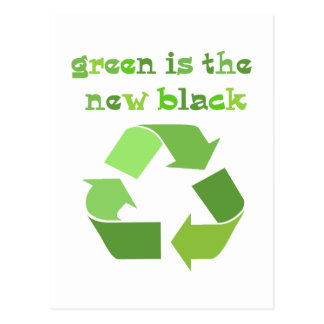 Green is the new Black! Postcard