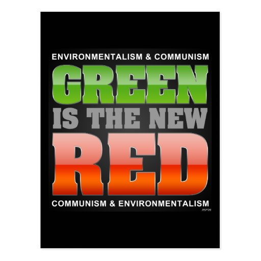 Green Is The New Red Post Cards