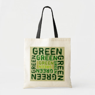Green is the Word Budget Tote Bag