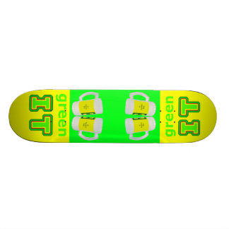 green IT The MUSEUM gibsphotoart Beer Glasses Skate Board Decks