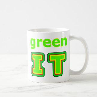 green IT The MUSEUM gibsphotoart Coffee Mugs