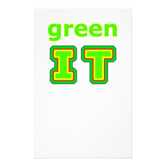 green IT The MUSEUM gibsphotoart Stationery Paper