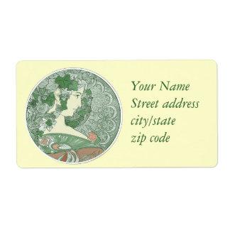 Green Ivy Goddess Shipping Label