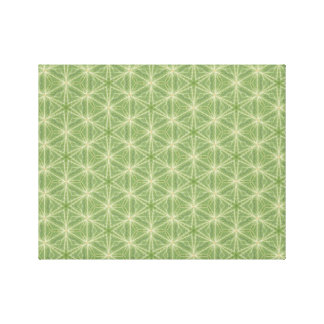Green Ivy Leaf Geometric Design Canvas