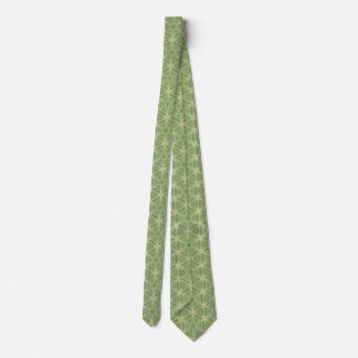 Green Ivy Leaf Geometric Design Tie