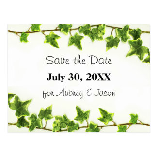 Green Ivy - Save the Date Post Card