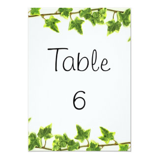 Green Ivy - Table Numbers