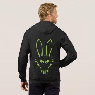 Green J. Rabbit Logo Fleece Zip Hoodie