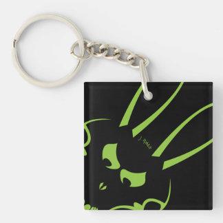 Green J. Rabbit Logo Keychain