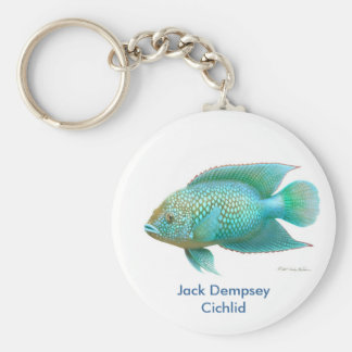 Green Jack Dempsey Cichlid Key Ring