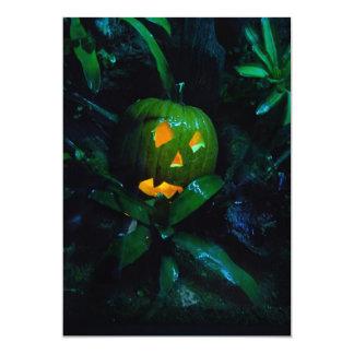 Green Jack O Lantern Halloween Invitation