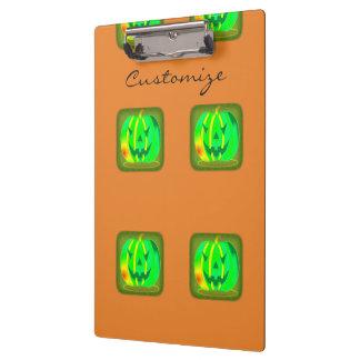 Green Jack o'lantern Halloween Thunder_Cove Clipboard