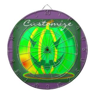 Green Jack o'lantern Halloween Thunder_Cove Dartboard