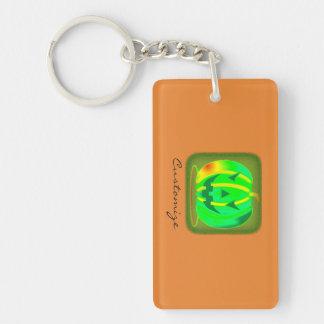 Green Jack o'lantern Halloween Thunder_Cove Key Ring
