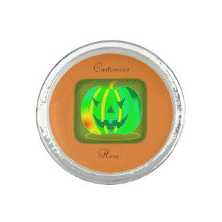Green Jack o'lantern Halloween Thunder_Cove Ring