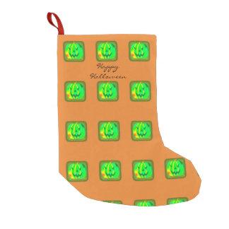 Green Jack o'lantern Halloween Thunder_Cove Small Christmas Stocking