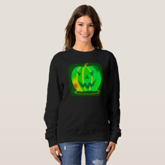 Green Jack o'lantern Halloween Thunder_Cove Sweatshirt