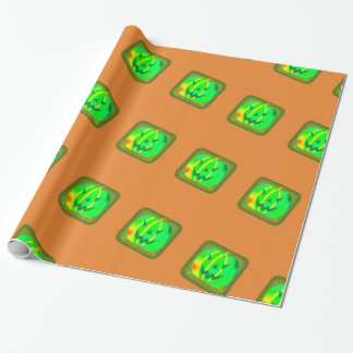 Green Jack o'lantern Halloween Thunder_Cove Wrapping Paper